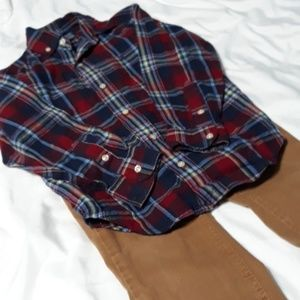 Ralph Lauren Shirt & cat& jack pants 5T